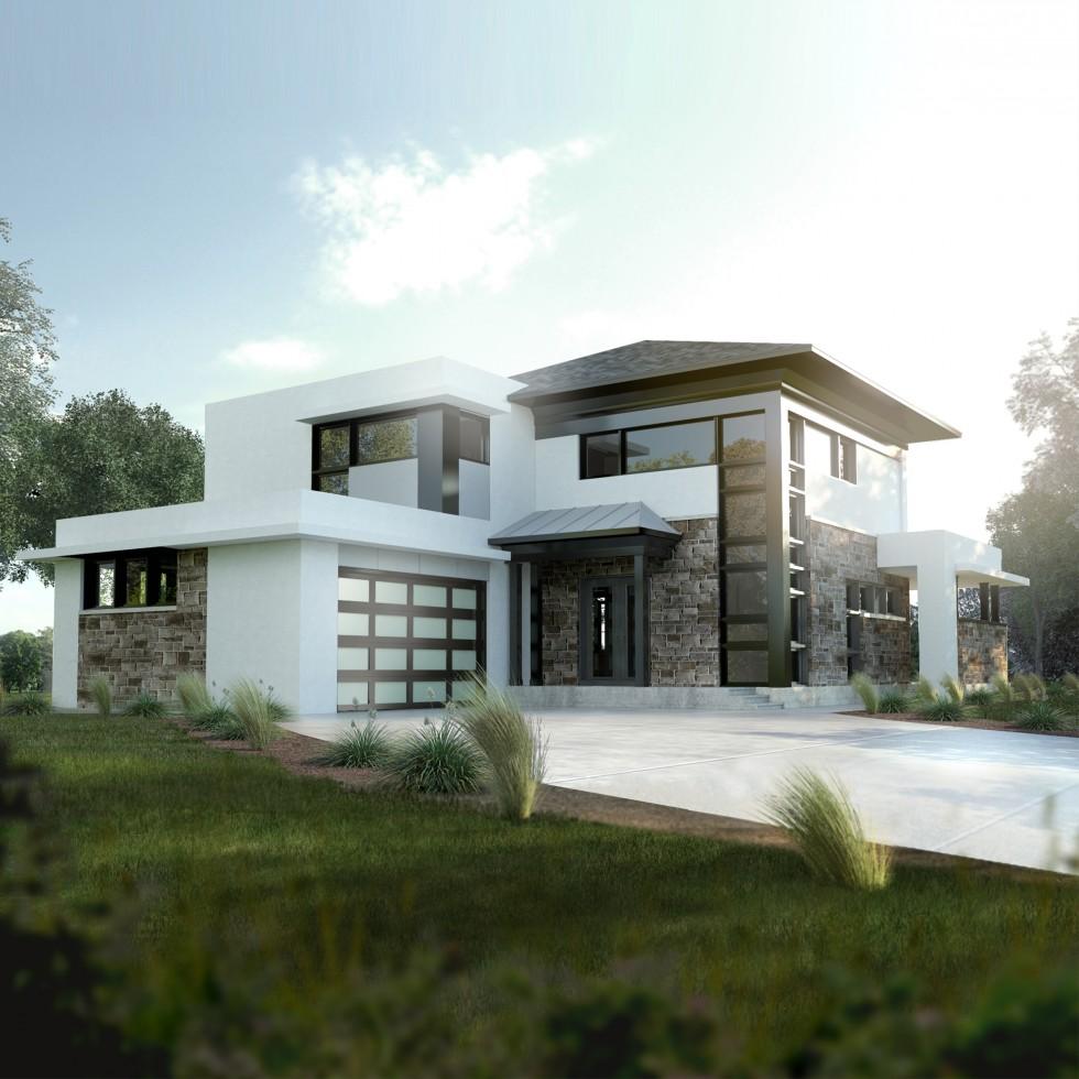 2-La Californienne : contemporaine : Construction Vincent : construction neuveconstruction neuve